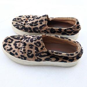 Steve Madden Gills Leopard Soft Velvet Slip Ons